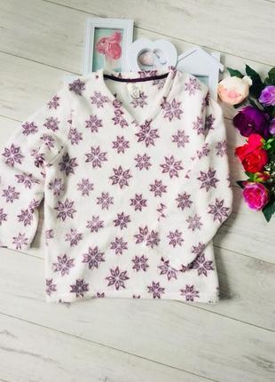 Теплая пижама кофта мохра
