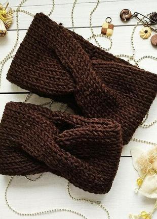 Теплая мягенькая повязка на голову♥
