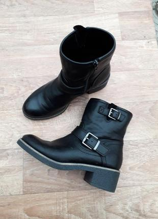Ботинки еврозима кожаные 38 размер