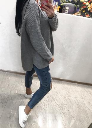 Тёплый ангоровый свитер оверсайз topshop