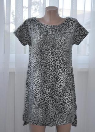 Леопардовое платье zara