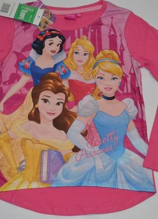 Красивая кофточка с принцессами от disney на девочку 8 лет ( рост 128)