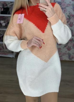 Тепленькое платье-туника