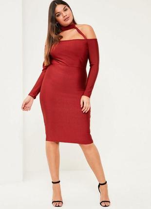 Платье бандажное ( plus size)