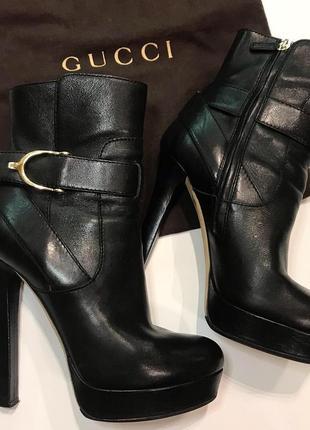 Gucci ботинки оригинал р.39,5-40