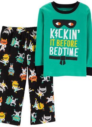 Пижама хлопок флис carters 3т/93-98 см