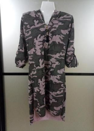 Платье туника *камуфляж*