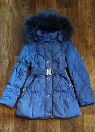 Зимнее пальто пуховик 134 140 146