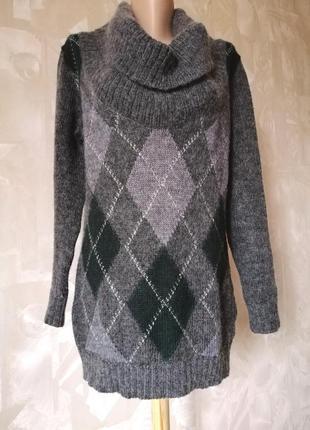 Шикарный тёплый свитер (мохер+шерсть)