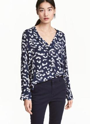 Блуза рубашка 100% вискоза h&m
