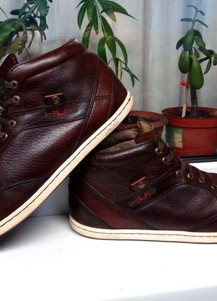 """Очень мягкие дорогие кожаные стильные ботинки """"hub"""". голландия. 44 р."""
