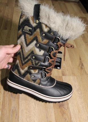 Шикарні зимові чоботи sorel ботинки сапоги 37 38 39,5
