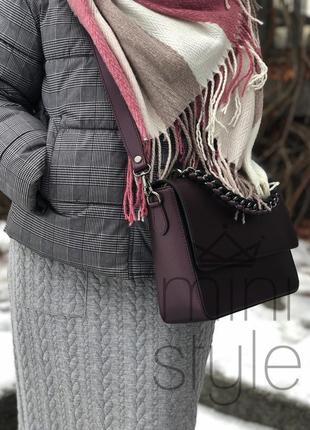 Кожа кожаная сумка на ручке цепочке cross-body сумочка трендовая и стильная кроссбоди4 фото