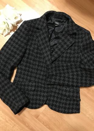 Шерстянной теплый пиджак жакет модной расцветки гусиная лапка mexx
