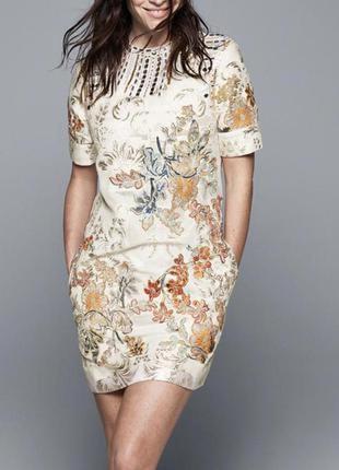 Шикарное вечернее платье с вышивкой h&m exclusive