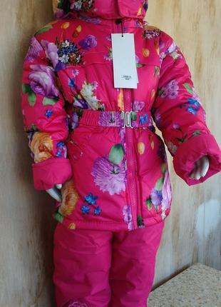 Зимний костюм на девочку куртка комбинезон 12 мес. 1 год венгрия