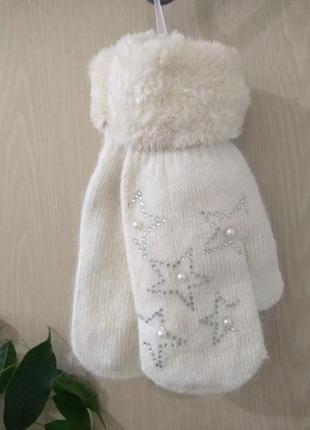 Красивые, тёплые рукавички с шерстью ангоры ❄️