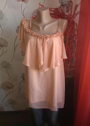 Блуза шифон персик debenhams 073