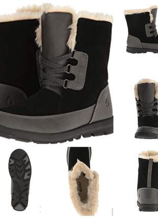 Стелька 23,5 см,ботинки (зима)нат.кожа/замша от sporto новые,в коробке
