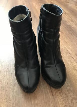 Ботинки черевички кожа