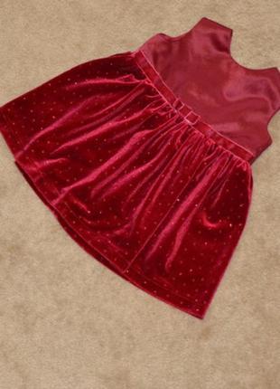 Нарядное платье cherokee на девочку 6 мес. - 1 годик. длина 40 см
