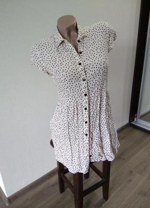 Платье сарафан в горох горошек хит тренд размер 8с