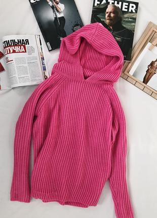 Свитер, вязаная кофта, вязаный свитер с капюшоном