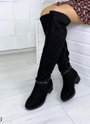 Сапоги зимние на низком каблуке. размеры с 36 по 40