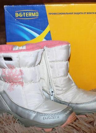 Детские термо ботинки зимние b&g