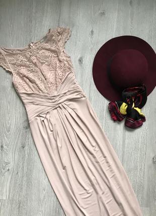 Вечернее выпускное длинное платье