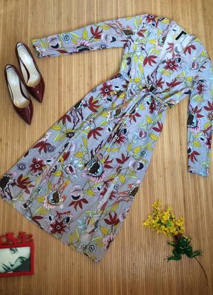 Шёлковое стильное платье,размер l