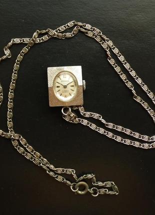 Rodania 17 jewels incabloc швейцарские винтажные часы-кулон