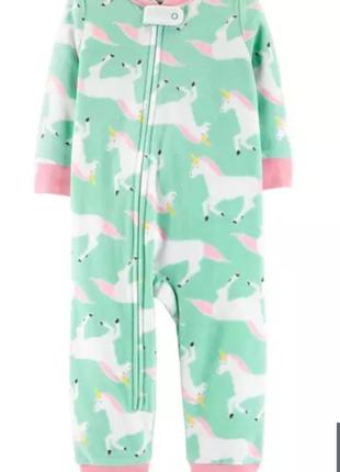 Флисовая пижама слип картерс для девочки 4т без ножек