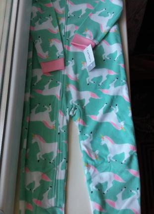 Флисовая пижама слип картерс для девочки 4т без ножек2