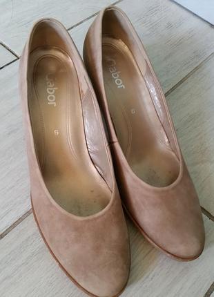 Туфли gabor натуральная кожа нубук размер 39
