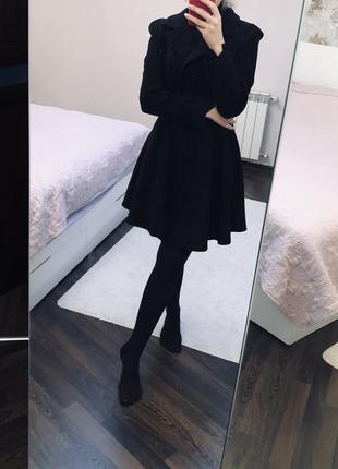 Пальто чёрное s-m