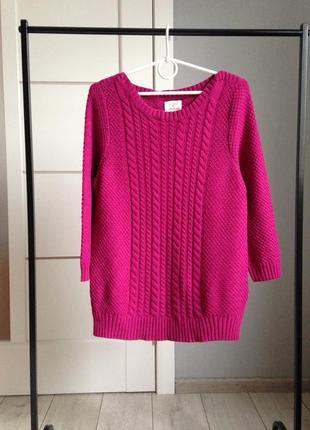 Тёплый малиновый свитер кофта джемпер фирмы vackroy