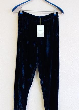 Бархатные брюки с шелком rabens saloner