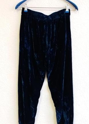 Бархатные брюки с шелком rabens saloner2