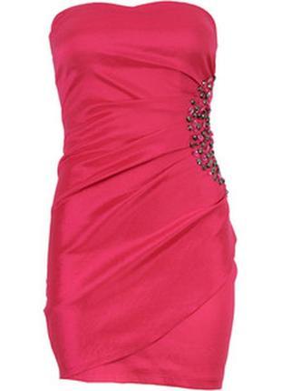 Нарядное платье-бандо бюстье