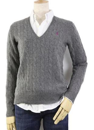 Новый теплый свитер ralph lauren 100% шерсть мериноса 12-14рр