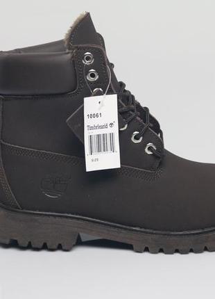 Timberland boots мужские ботинки сапоги с мехом зимние тёплые на зиму black 98c4c8c73b227
