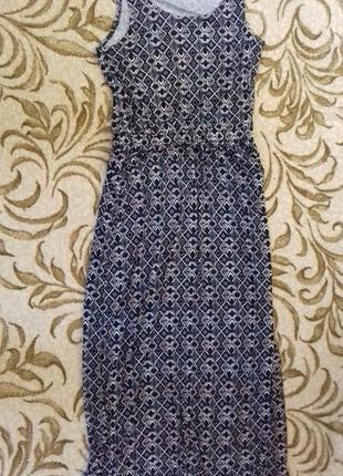 Платье в пол , длинный  сарафан из вискозы