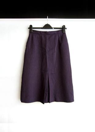 Теплая миди юбка st.michael в тонкую полоску