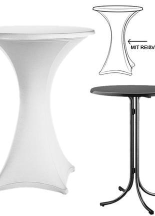 Скатерть натяжная, торжественная, на круглый стол, 75х120, германия.