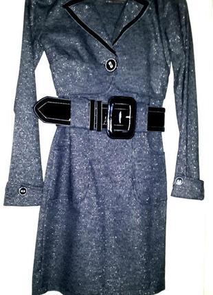 Фирменное теплое платье + болеро defile lux