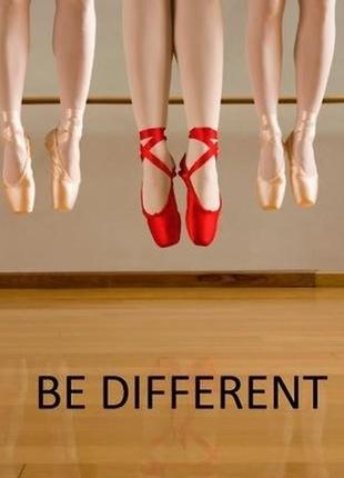 Балетные туфли, пуанты красного цвета