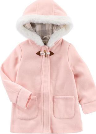 Шикарное розовое пальто для девочки oshkosh