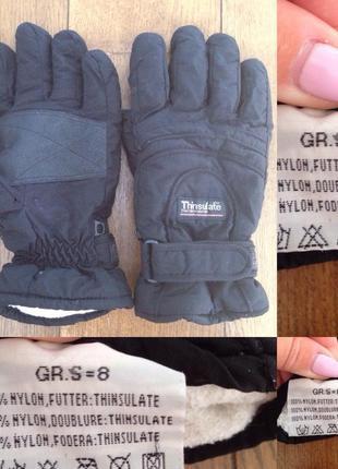 Лыжные перчатки утеплитель thinsulate р. 8