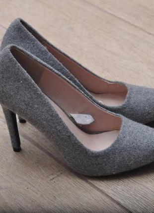 Шерстяные туфли